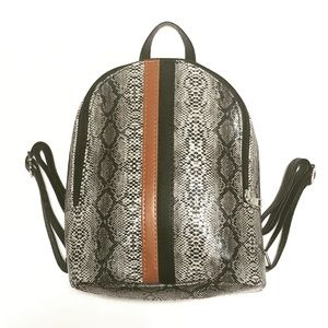 Mini Back Pack Snake Print Design